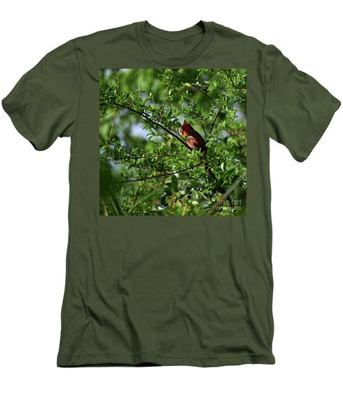 Men's T-Shirt (Slim Fit) featuring the photograph Mr Red by Skip Willits