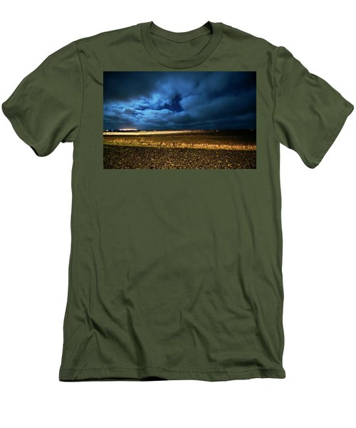 Men's T-Shirt (Athletic Fit) featuring the photograph Icelandic Night  by Dubi Roman