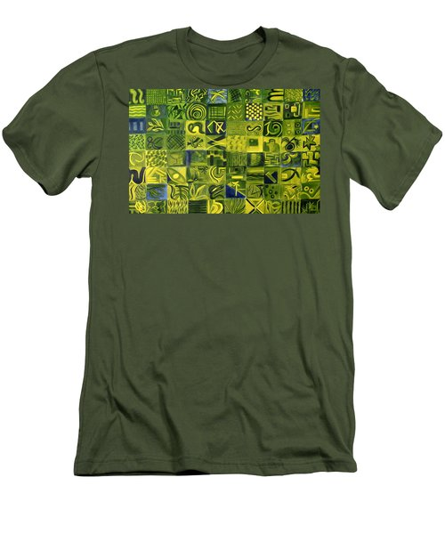 Night On The Lawn Men's T-Shirt (Slim Fit) by Patricia Cleasby