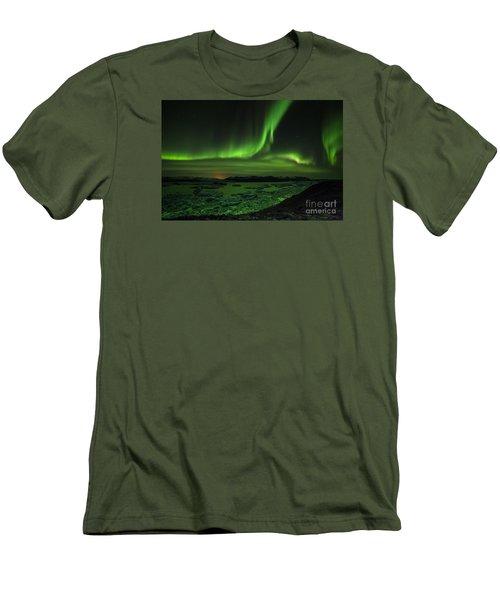 Men's T-Shirt (Slim Fit) featuring the photograph Northern Lights 2 by Mariusz Czajkowski