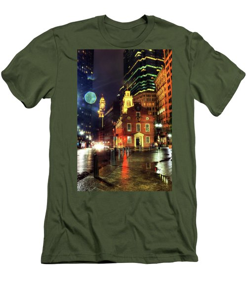 Men's T-Shirt (Athletic Fit) featuring the photograph Old State House - Boston by Joann Vitali