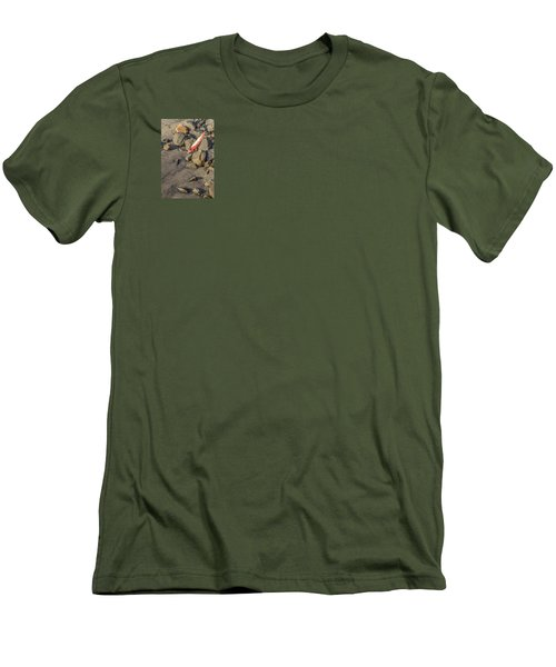 Men's T-Shirt (Slim Fit) featuring the photograph On The Rocks by Peter Tellone