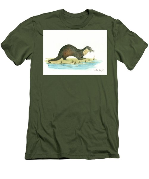 Otter Men's T-Shirt (Slim Fit) by Juan Bosco