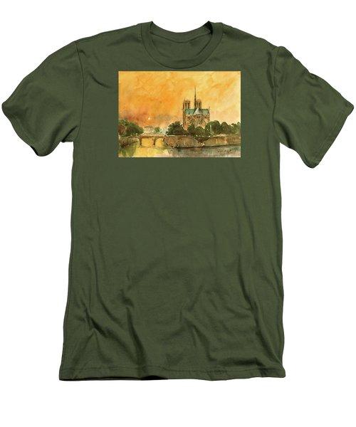 Paris Notre Dame Men's T-Shirt (Athletic Fit)