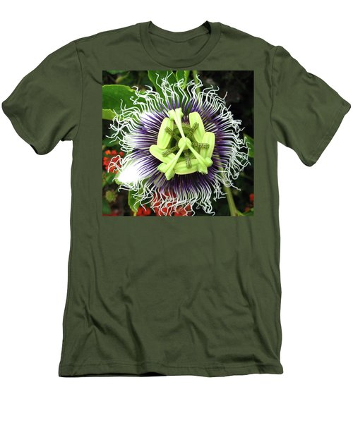 Passion Flower Men's T-Shirt (Slim Fit) by Mary Ellen Frazee