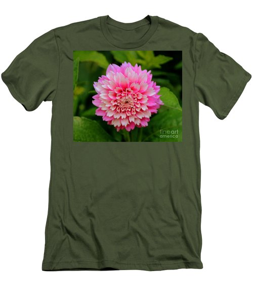 Pink And White Men's T-Shirt (Athletic Fit)