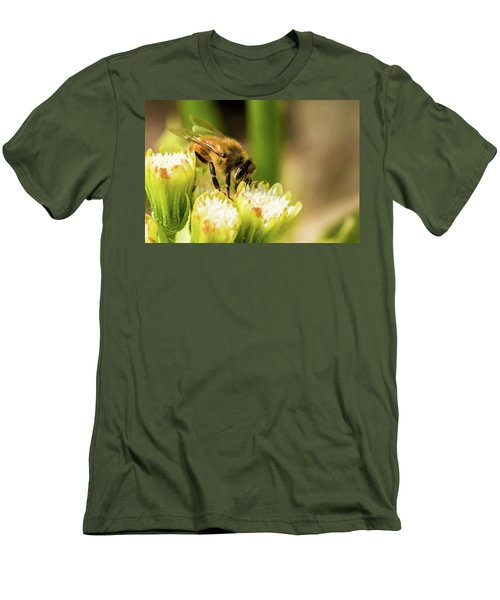 Pollen Collector  Men's T-Shirt (Slim Fit) by Jay Stockhaus