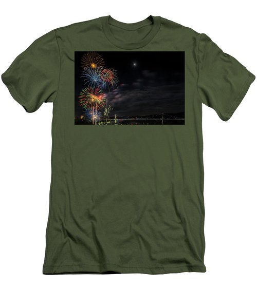 Poughkeepsie Fireworks Image Six Men's T-Shirt (Athletic Fit)