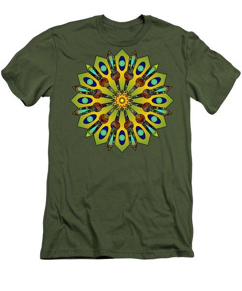 Psychedelic Mandala 004 A Men's T-Shirt (Slim Fit) by Larry Capra
