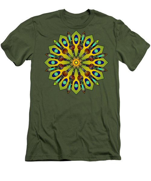 Psychedelic Mandala 004 A Men's T-Shirt (Athletic Fit)