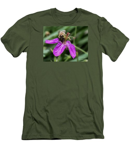 Purple Flower 3 Men's T-Shirt (Athletic Fit)