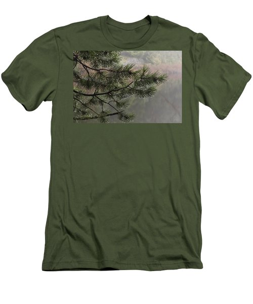 Rain Drops Men's T-Shirt (Slim Fit) by Inge Riis McDonald