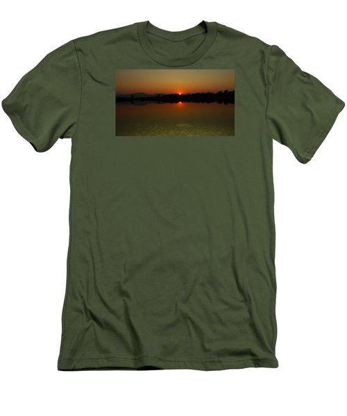 Men's T-Shirt (Slim Fit) featuring the photograph Red Dawn by Eric Dee