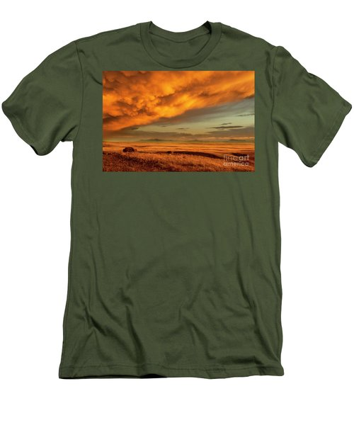 Red Rock Coulee Sunset 1 Men's T-Shirt (Athletic Fit)