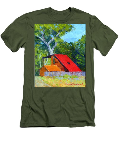 Red Roof Men's T-Shirt (Athletic Fit)