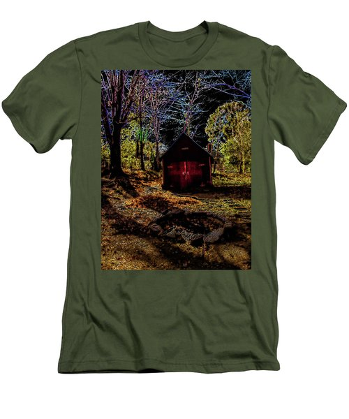 Red Shed Men's T-Shirt (Slim Fit) by Randy Sylvia