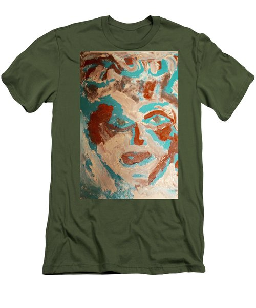 Men's T-Shirt (Slim Fit) featuring the painting Red White And Blue by Shea Holliman