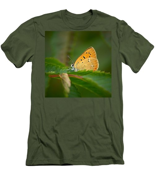 Men's T-Shirt (Slim Fit) featuring the photograph Scarce Copper by Jouko Lehto