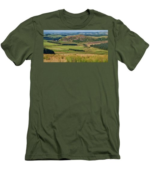 Scotland View From The English Borders Men's T-Shirt (Slim Fit) by Jeremy Lavender Photography