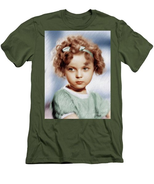 Shirley Temple, Vintage Actress Men's T-Shirt (Athletic Fit)
