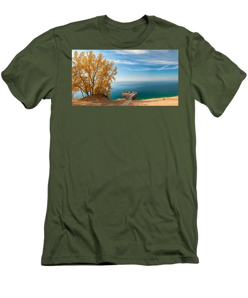 Sleeping Bear Overlook Men's T-Shirt (Athletic Fit)