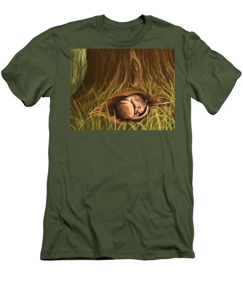 Men's T-Shirt (Slim Fit) featuring the painting Sleeping  by Veronica Minozzi