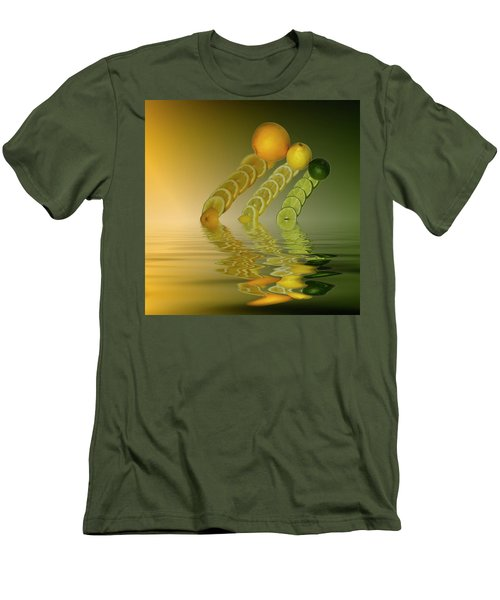 Men's T-Shirt (Slim Fit) featuring the photograph Slices  Grapefruit Lemon Lime Citrus Fruit by David French