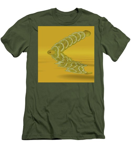 Men's T-Shirt (Slim Fit) featuring the photograph Slices Lemon Citrus Fruit by David French