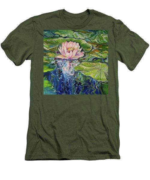 Solitude Waterlily Men's T-Shirt (Slim Fit) by Marcia Baldwin