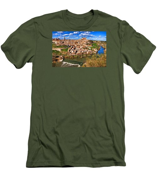 Men's T-Shirt (Slim Fit) featuring the photograph Spanish Toledo by Dennis Cox WorldViews
