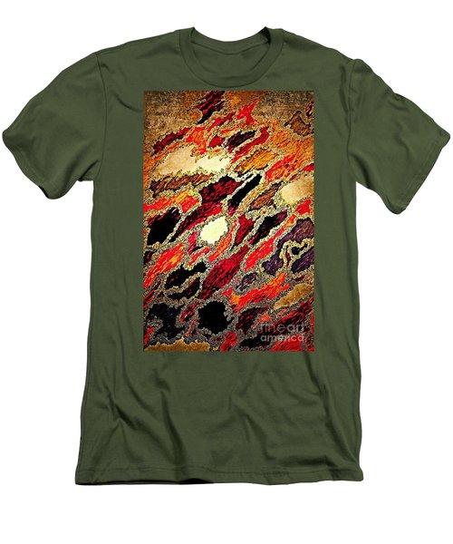 Spirit Journey Through The Fire Men's T-Shirt (Slim Fit) by Rachel Hannah
