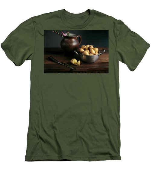 Still Life With Potatoes Men's T-Shirt (Athletic Fit)