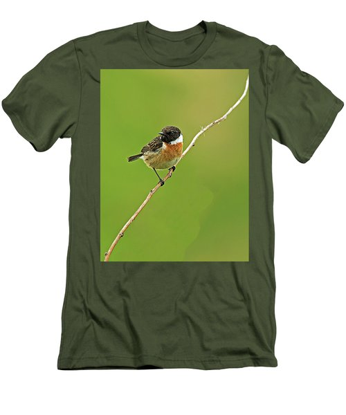 Stonechat Men's T-Shirt (Slim Fit) by Paul Scoullar