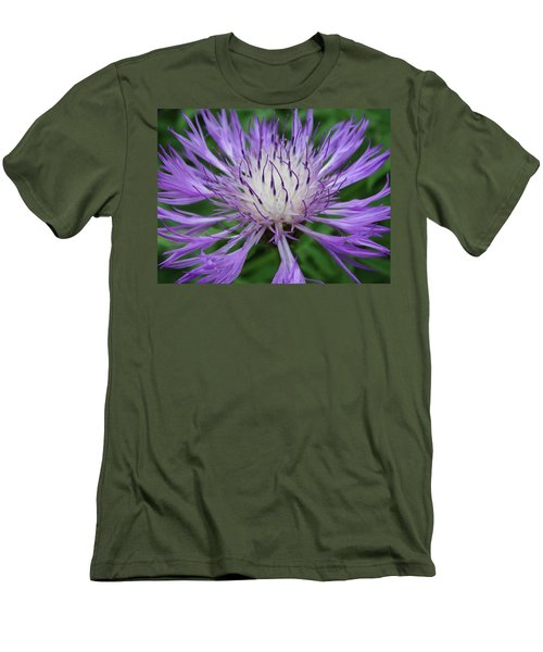 Summer Blooms Men's T-Shirt (Slim Fit) by Rebecca Overton