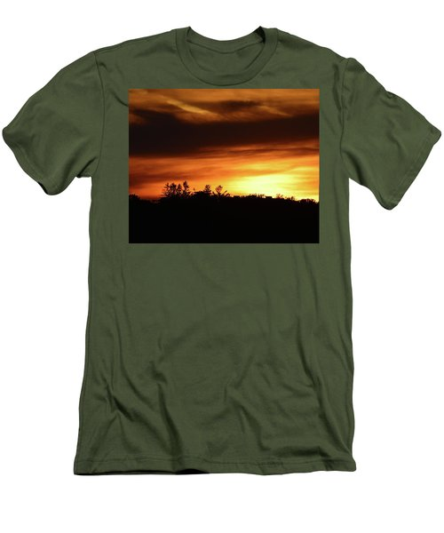Sunset Behind The Clouds  Men's T-Shirt (Athletic Fit)