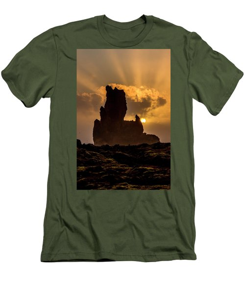 Sunset Over Cliffside Landscape Men's T-Shirt (Athletic Fit)