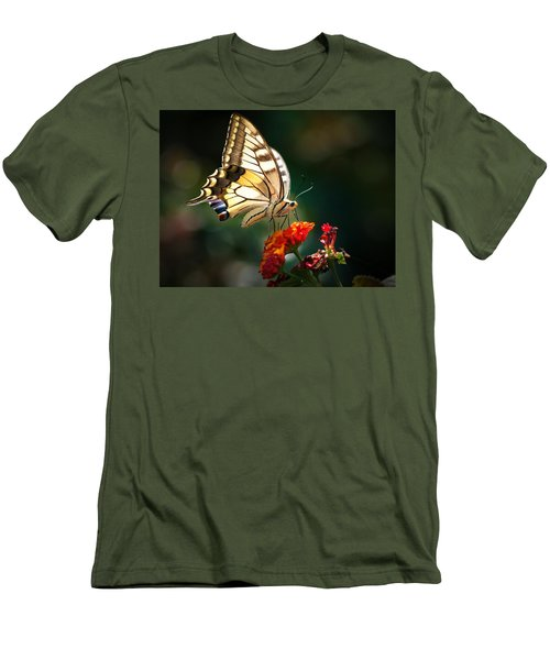 Swallowtail Men's T-Shirt (Slim Fit) by Meir Ezrachi