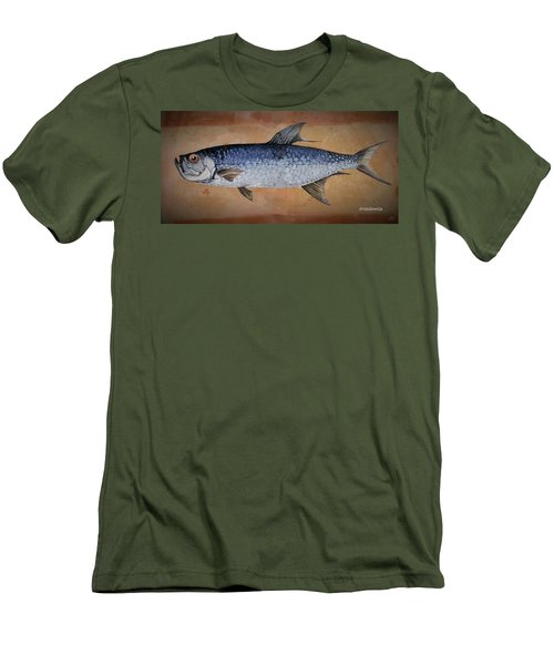 Men's T-Shirt (Slim Fit) featuring the painting Tarpan by Andrew Drozdowicz