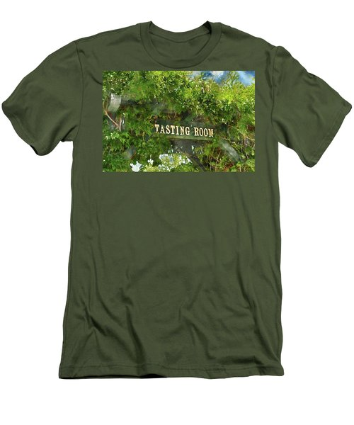 Tasting Room Sign Men's T-Shirt (Athletic Fit)