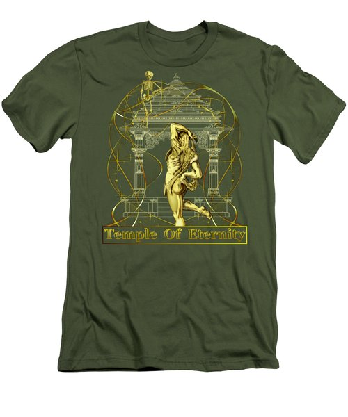 Men's T-Shirt (Slim Fit) featuring the digital art Temple Of Eternity by Robert G Kernodle