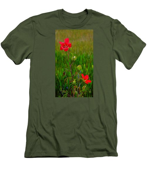 Texas Star Hibiscus Men's T-Shirt (Athletic Fit)