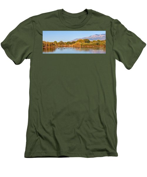 Men's T-Shirt (Slim Fit) featuring the photograph The Bosque by Gina Savage