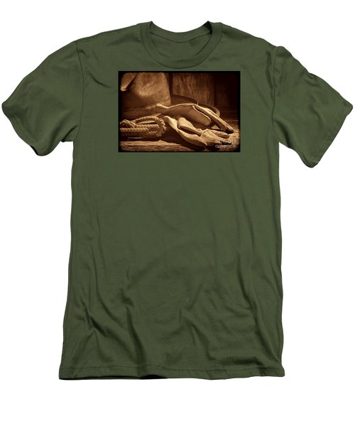 The Cowboy Gloves Men's T-Shirt (Slim Fit) by American West Legend By Olivier Le Queinec