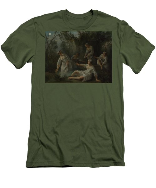 The Four Times Of Day   Evening Men's T-Shirt (Athletic Fit)