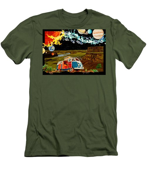 The Gorge One Sweet World Men's T-Shirt (Slim Fit) by Joshua Morton