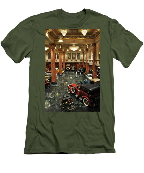 Grand Salon At The Nethercutt Men's T-Shirt (Slim Fit) by Kyle Hanson