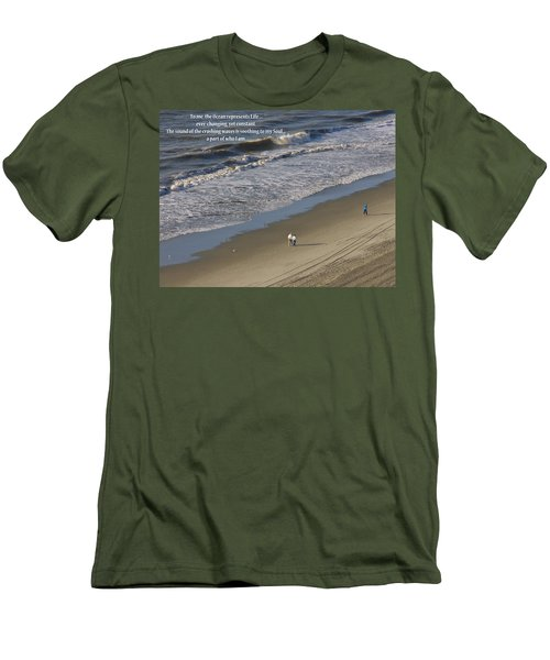 The Ocean Men's T-Shirt (Slim Fit) by Rhonda McDougall