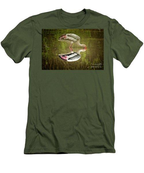 The Painted Stork  Mycteria Leucocephala  Men's T-Shirt (Athletic Fit)