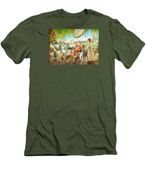 The Palace Garden Tea Party Men's T-Shirt (Slim Fit) by Reynold Jay
