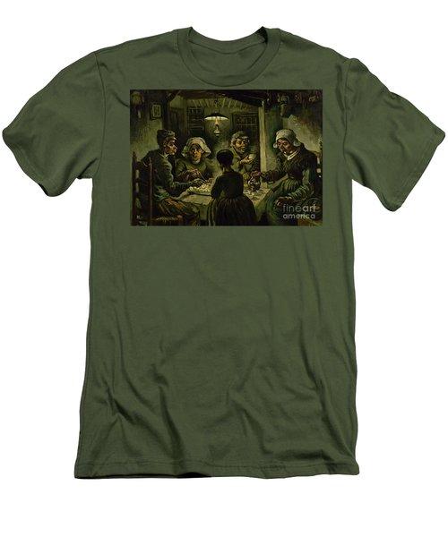 The Potato Eaters, 1885 Men's T-Shirt (Slim Fit) by Vincent Van Gogh